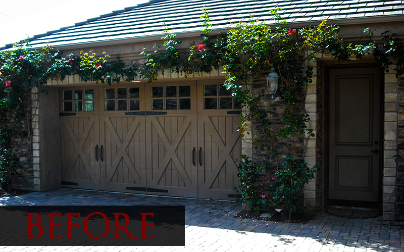 About showcase door painting Faux wood garage door paint