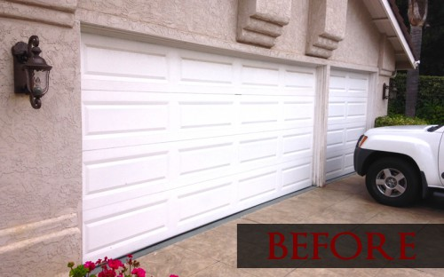 Plain metal garage prepaint