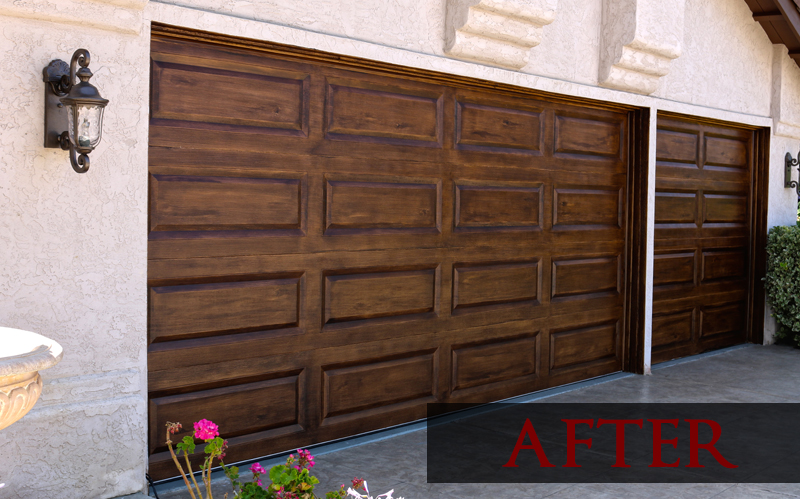 Paint Metal Garage Door To Look Like Wood About Showcase