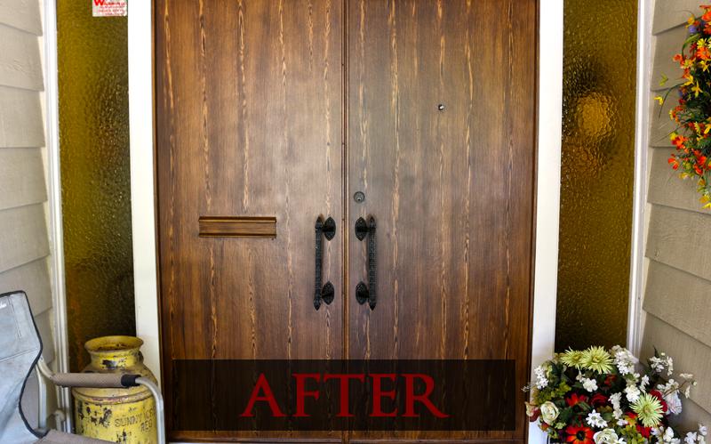 ... Plain Wood Door After Faux Wood Paint ...