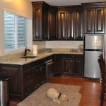Dark Walnut Cabinets