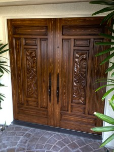 Custom wood painted doors