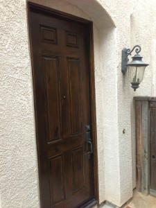 Dark Walnut repainted door